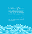 blue background with ocean waves vector image vector image