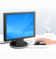 Monitor and mouse vector image