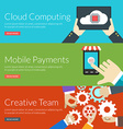 Flat design concept for cloud computing mobile vector image