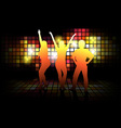 Dancing Silhouettes vector image vector image