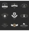Retro Logotypes set Vintage graphics vector image vector image