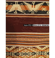South America Indian woven fabrics vector image