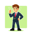 Businessman Mascot Character vector image vector image