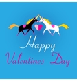 Graphic lovers unicorns vector image
