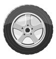 Car wheel icon gray monochrome style vector image