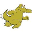 Cartoon Running Alligator vector image