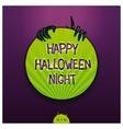 Halloween label vector image