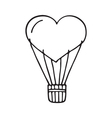 Hot air balloon heart vector image