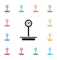isolated weighing icon measurement element vector image