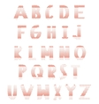 Red hearts alphabet vector image