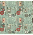 seamless viking pattern 03 vector image