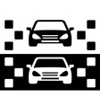 taxi simple icon vector image