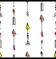 tribal vintage black arrows on white background vector image