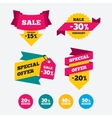 Sale discount icons Special offer price signs vector image