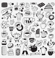 tea and coffee cups - doodles set vector image vector image
