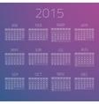 Gloss Calendar 2015 background vector image
