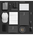Corporate identity mockup template vector image
