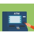 access to ATM machine vector image