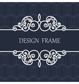 Decorative Line Label with Ornament vector image vector image