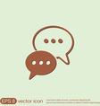 cloud of speaking dialogue vector image