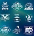 Summer Holidays Design Elements Set of Hipster vector image