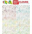 Speech bubble mega set clouds vector image