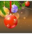 New year composition on blurred background vector image