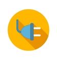 Electricity plug flat icon vector image