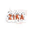 Design concept epidemic of zika virus vector image