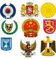 Coats of arms vector image