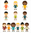 Cute smiling multicultural children vector image