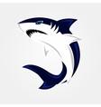Evil shark swims vector image