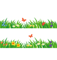 Grass and flowers set vector image
