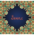 Green ornate frame with paisley pattern vector image