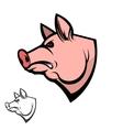 pig head Design element vector image