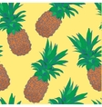 Sketchy style pineapple seamless pattern vector image