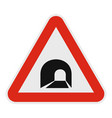 Tunnel icon flat style vector image
