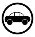 Car button on white vector image