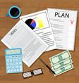 tax plan vector image