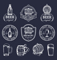 old brewery logos set kraft beer retro images vector image