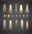 different light effect elements bright lights vector image