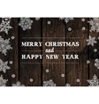 xmas design on hardwood planks vector image vector image