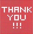 thank you dots vector image vector image