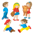 animated children vector image vector image