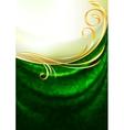 green fabric drapes vector image