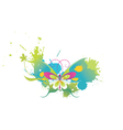 splash background with butterfly vector image vector image