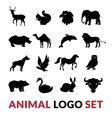 Wild Animals Black Logo Icons Set vector image vector image