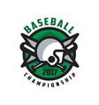 baseball championship 2017 logo design element in vector image