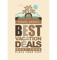 best vacation deals vector image