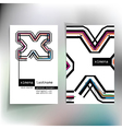 Business card design with letter x vector image